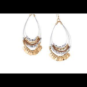 Metallic Bead TearDrop Earrings